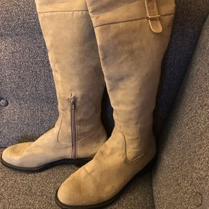 Zara Over the Knee Suede Boots